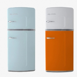 Retro Kitchen's line of fridges, stoves, and dishwashers offer modern-day technology inside their vintage casings.
