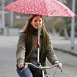 Drybike makes a hands-free umbrella mount for your bicycle.