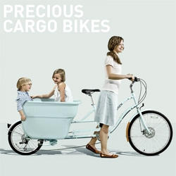 "Madsen Cycles ~ these adorable bikes have bath tub like ""Cargo"" spaces"