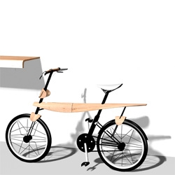 'bike.able' is a commuter bike for dwell. Solving a problem by designing a bike that looks like a furniture and works as a furniture.