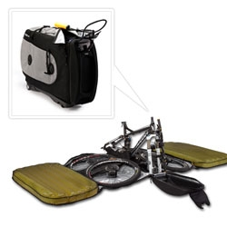 BIKND Helium ~ amazing bike travel case that lets your bike travel protected in the size of a check in...