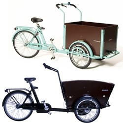Bakfietsen are like the SUVs of bikes ~ super cargo bikes ready to haul whatever you can fit in them ~ see some of the amazing models i found at Rolling Orange.