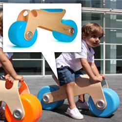 Glodos Bit Bike ~ nice curved laminated wood and big wide colorful wheels to get your kid rolling!