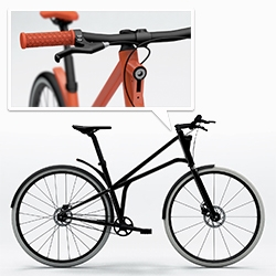 Cylo - stunning urban bike with beautiful geometries, built in lights (including a brake light), and a gates carbon belt drive!