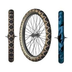 Street smart and safe.  These  reflective snake skin tyres will make moutainbiking safer at night.