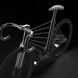 By multiplying the ordinary and traditional diamond frame, a new look of wireframe appears.