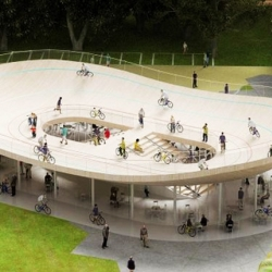 Bike Pavilion, a design commissioned by VANKE for a resort in southern China.