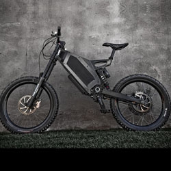 The Stealth Electric Bikes. With a top speed of 45mph, this has to be the fastest, most bad-ass way to go Green. An electric bike that the Dark Knight wouldn't be embarrassed to use.