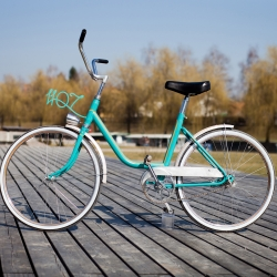This is a spring bike re-work project from Ljubljana, Slovenia, where 20 artists reworked 20 old bikes in 10 days.
