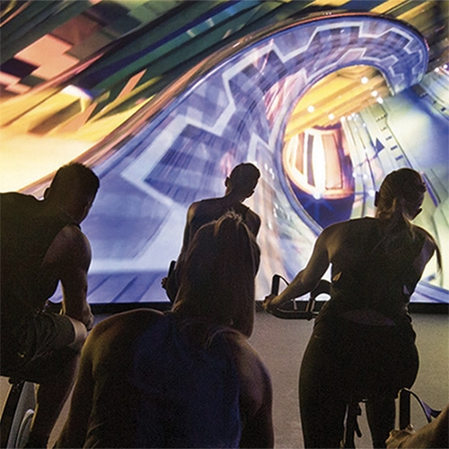 Les Mills Gym's The Trip - taking indoor cycling classes to a whole new level with intense virtual worlds to ride through.
