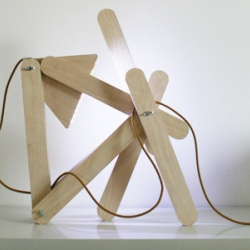 Residue Lamp from Made by Midas is a lamp made to play with. You can put it in many positions like you play with a wooden toy. It is made of waste wood out of the production of children´s furniture.