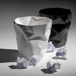 Bin Bin is a funny trush can for your paper made by polyethylene.