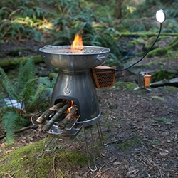 BioLite is Kickstarting their BaseCamp Stove we first saw at Outdoor Retailer! It's advanced off-grid cooking and charging for groups, powered by wood.