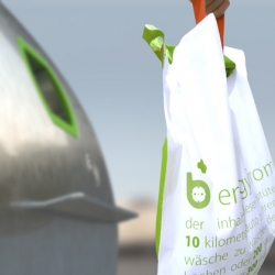 Ahhaproject's biodegradable bag made from PLA material for collecting biomass from our kitchen waste.