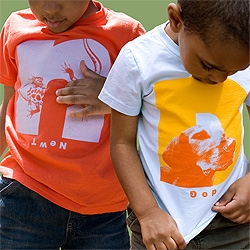 The most adorable children's t-shirts on an adorable website (biome 5). I love how the names are printed upside-down.