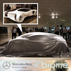 Mercedes-Benz Biome Concept car 1:1 model unveiling at the Design Center in Calrsbad ~ an organically inspired skeletal design with great details.