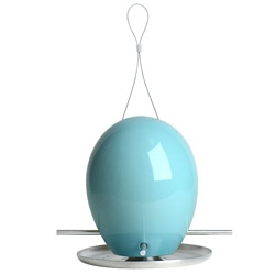 Add some color for spring, while feeding neighborhood birds, with these Egg Bird Feeders from J Schatz