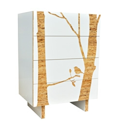 Iannone Design Tall Dresser - Trees
