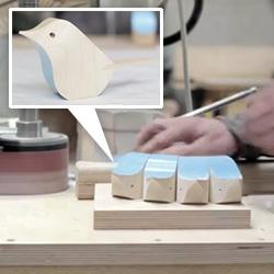 Splinter Designs - Jacob Pugh's Bird - A short film about a small bird made from wood.