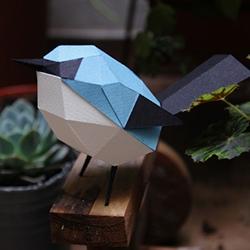 Aves de papel/ Paper birds of Estudio Guardabosques