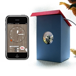 The simple BirdBox turns a free app into a nesting box/cuckoo alarm clock. Nice app + physical object gift idea.