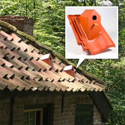 Birdhouse roof tiles! by Klaas Kuiken