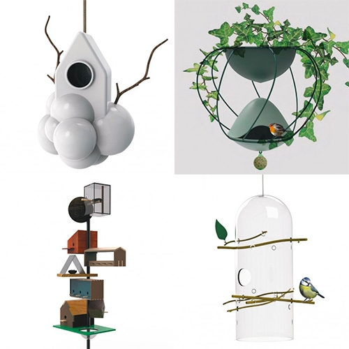House of Birds at the Triennale di Milano from design week. Great gallery of designer bird houses at Abitare.