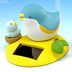 "Solar Powered Bird - ""Kotoridayori is a little bird that gathers energy from the sun. She tweets when picked up. (And sometimes, she just tweets because she's in the mood.)"""