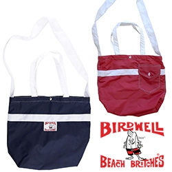 Birdwell Beach Britches has adorable (farmer's market perfect) totes made of the same material as their shorts! In three sizes, with hand and shoulder handles, and their signature shorts pockets!