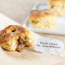 Gravy IN Biscuits ~ This week's Tasteologie round up comes with a great inside out breakfast!