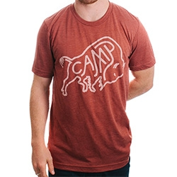 Camp Brand Goods Young Buffalo T-shirt with artwork by Keith Davis Young