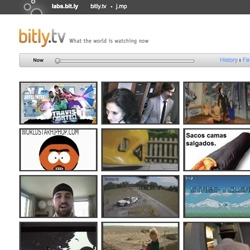 Bitly.tv ~ a fun experiment to view top videos in real time from our favorite link shortener, Bit.ly