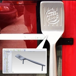 Burger King Grill Spatula Door Handles - Mechanical engineering grad runs into his first project out of school at Burger King months later.