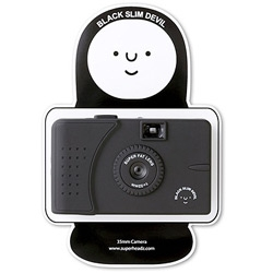 Hehe, the packaging for this SuperHeadz Black Slim Devil camera is so cute (there's also a white angel version)