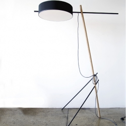 New Excel floor lamp by Rich Brilliant Willing.  Spare and lightweight construction keep materials to a minimum while maximizing luxurious proportions and creating an amazing sense of atmosphere.