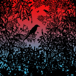Blackbirds - limited edition screen print at Option-G