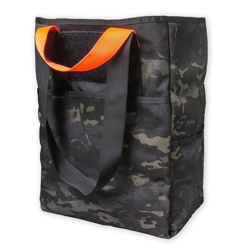 Prometheus Design Werx CaB-2 Multicam Black Special Edition Tote Bag! Fits a paper grocery bag and has both short handles and shoulder straps.