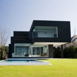 Andrés Remy Architects designed The Black House in a suburb of Buenos Aires, Argentina.
