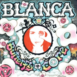 Blanca Apodaca's latest album Butterfly Core is here! And i love the behind the scenes pics of her painting the album cover... interesting mix of hippie-gangsta-trippiness