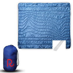 Rumpl ~ inspired by outdoor gear (think sleeping bags and cozy down jackets) these are blankets! From throw sized to bed sized, you can take them with you in a stuff sack and wash them easily thanks to the synthetic fill.