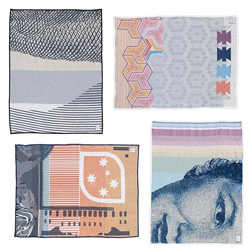 Hiller Dry Goods Currency Blankets.  Focused on specific design elements of their favorite banknotes from around the world, the details become stunning blanket prints!