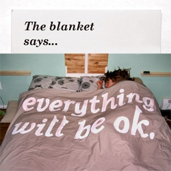"Also from Keetra Dean Dixon ~ a blanket thats as comforting textually as it is physically... ""Everything Will Be Ok"""