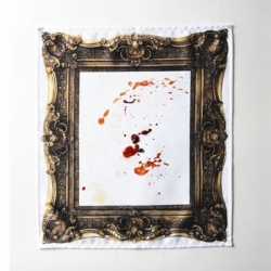 Frame Napkin is a framed white napkin. So, you can create your own art with mess and stains! By Kouichi Okamoto for Kyouei design.