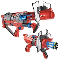 Mattel BOOMco Blasters - FastCo Design shares a first look of these new Blasters that are 3 years in the making... to take on Nerf? Supposedly firing faster and straighter!
