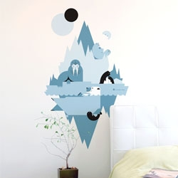 Polar Composition, a cute wall graphic from A Modern Eden (of the iPhone apps and from creative firm FORGE) by Blik.