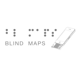 Andrew Spitz, Ruben van der Vleuten and Markus Schmeiduch's Blind Maps, a conceptual  handheld interactive smart phone maps accessory created as part of a 36 hour project for the Copenhagen Institute of Interaction Design.
