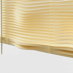 "Helena Karleson's ""Contour Window Blinds"" create unusual light effects depending on the density of the light coming through"