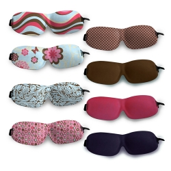 Sleep masks from Bucky. Perfect for long flights or lazy Sundays. This ultralight molded foam eye mask is contoured for pressure-free, smudge-free eye comfort.
