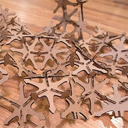 Laser Cut Cardboard Icosahedron-based Building Set! Laser Challenge #5 is here ~ and we had far too much fun constructing icosahedrons and crazy landscape like structures!