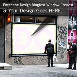 The Design Blogfest Party next week has a window. And we need something to put in it - How about your design? [Currently the submissions aren't that cool... get your fav designers to submit their work!]